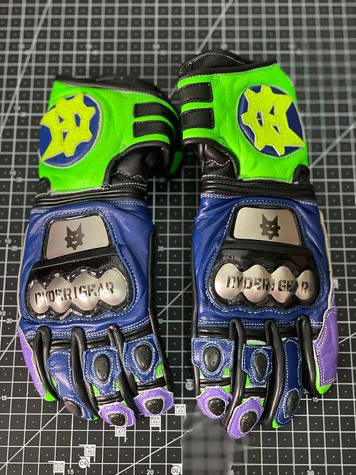 Child's 2019/2020 Gauntlet Ryder Gear Gloves (Purple Blue Green -Child M/L)