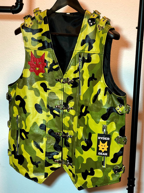 Camo Cruiser Vest - Mil Green Camo and Red (Med/Large)