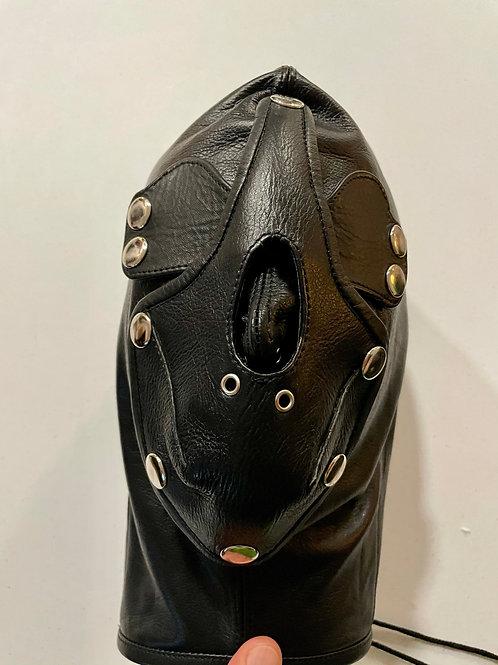 Basic Bondage Hood with Leather Gag