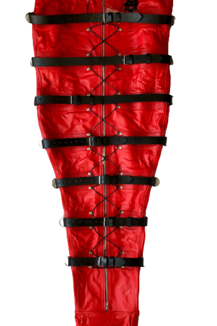 *Red with Black leather Lining Ryder Gear Deluxe Sleep Sack (XXL)