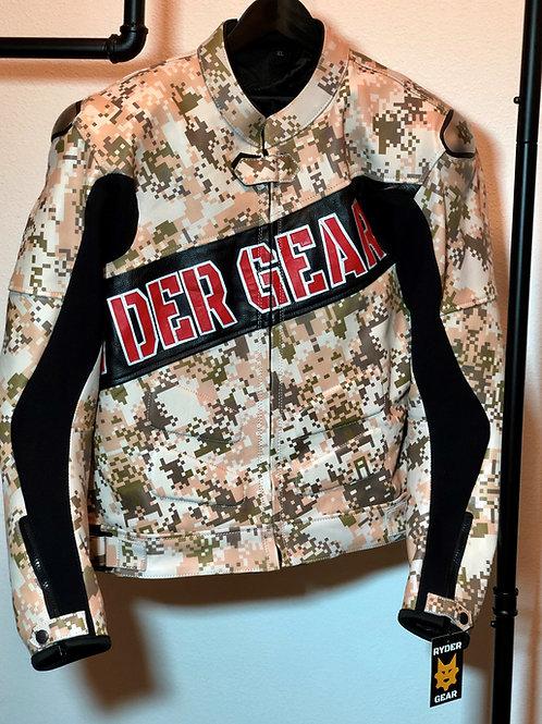 2019 Men's Digi Desert Camo Leather Jacket (XL-US44/EU54)