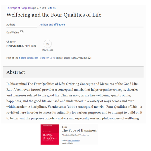 Wellbeing and the four 1000 x 1000... 20