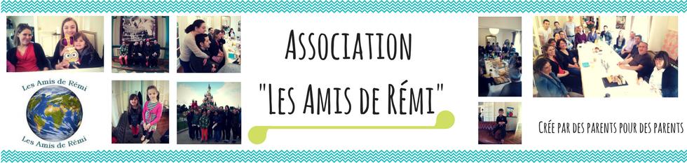 """Banderole dusite de l'assocaiation """"Les Amis de Rémi"""" qu regroupe des personnes porteuses de l'exstrohie vésicale (bladder exstrophy)"""