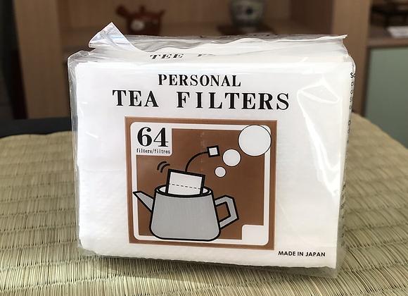 Paquet de 64 filtres à thé individuels