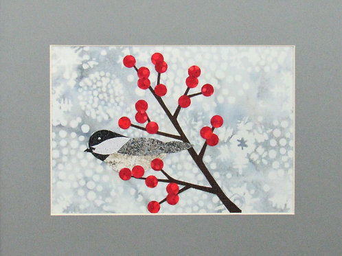 Chickadee with Berries