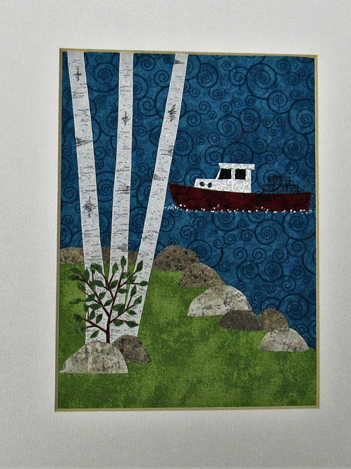 Lobster Boat with Birch