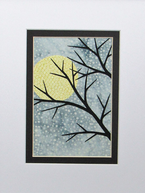 Moon with Branch