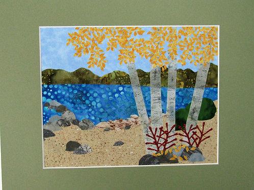 Birches on Lake