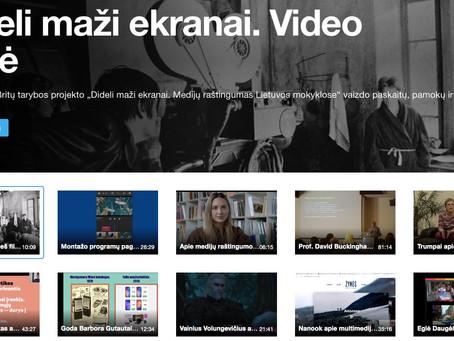 Projekto video bazė mokytojams