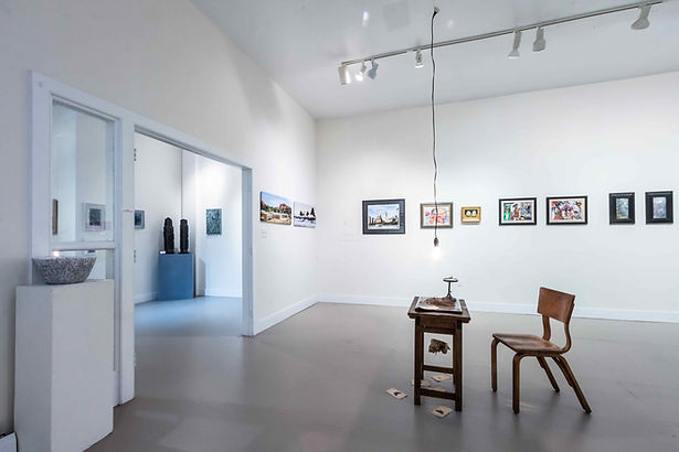 Gallery Interior, showing artwork from our New Year New Works show