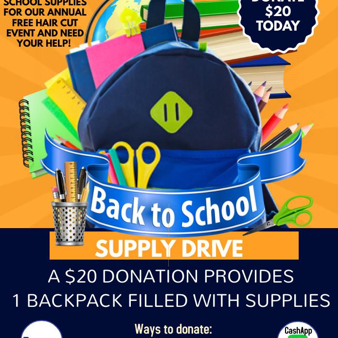 Backback Donation Drive