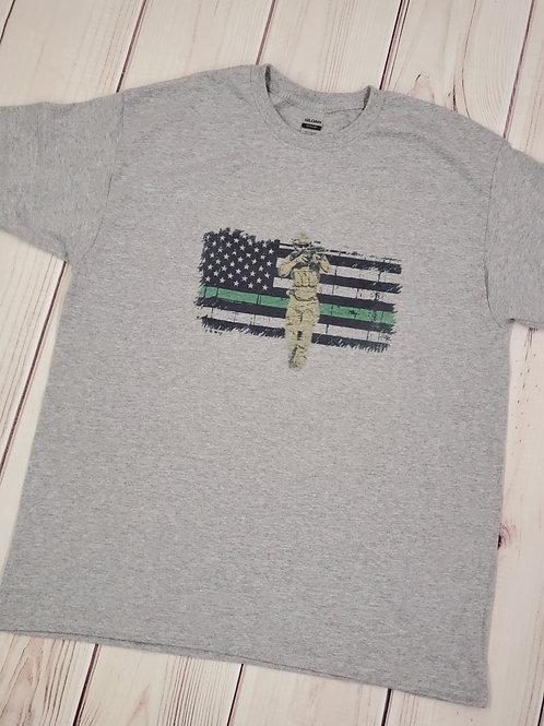 Thin green line Military T-shirt