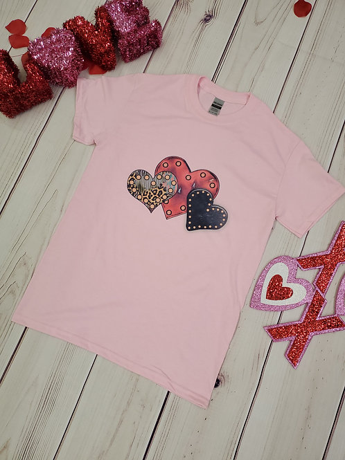 Triple Hearts t-shirt ❤