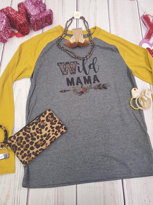 Wild Mama Raglan shirt