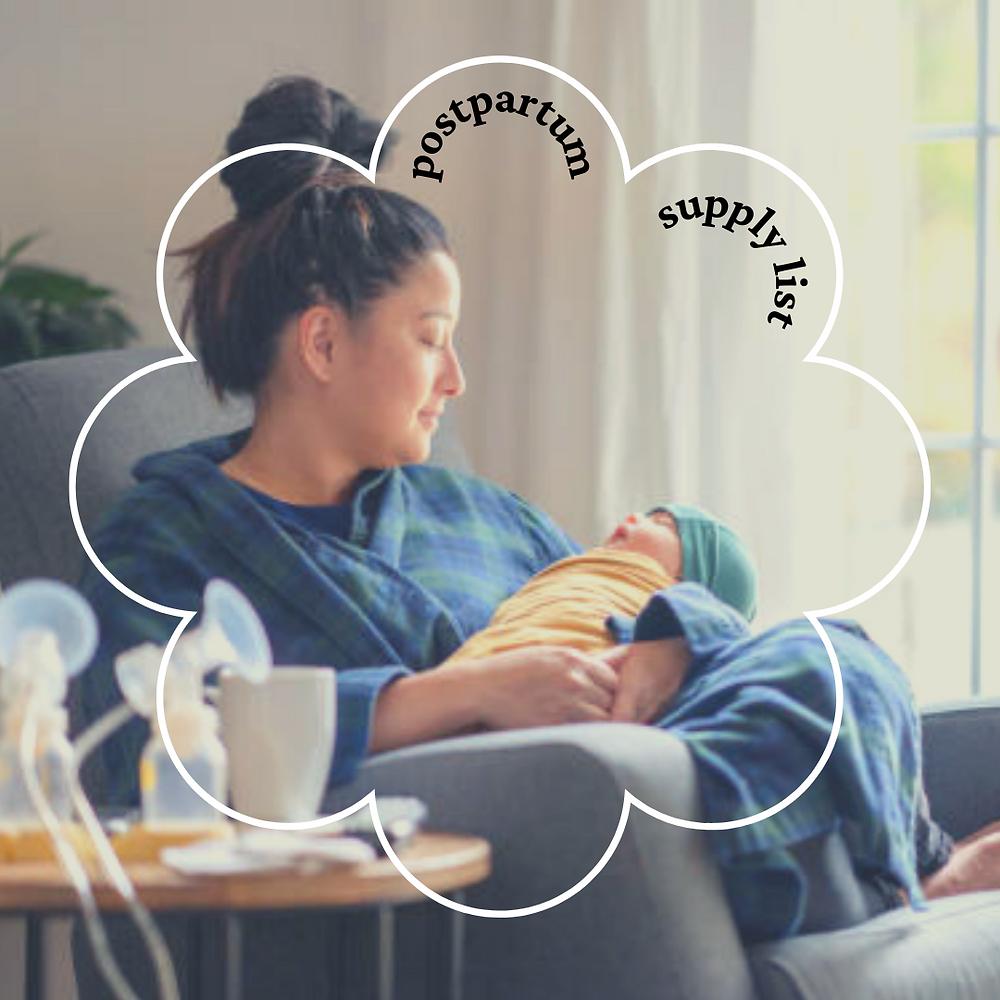 postpartum supply list doula madison wisconsin