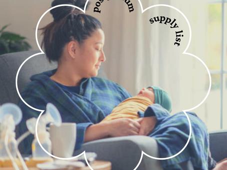 Postpartum Supply List
