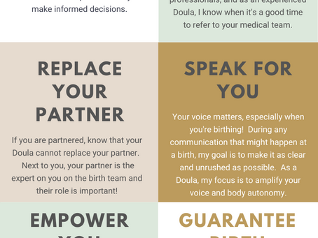Things Your Doula Can't Do...