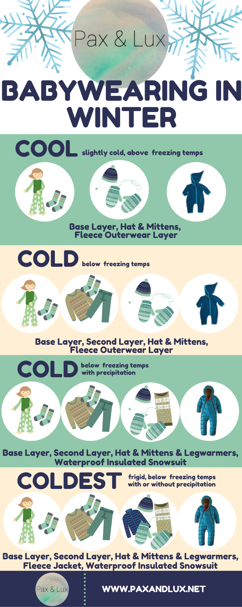 babywearing in winter, Madison Doula