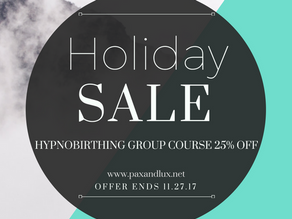 25% Off on Hypnobirthing Group Class!