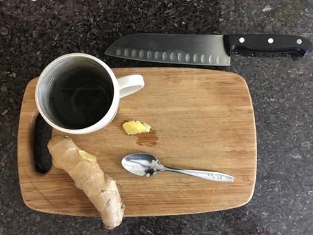 Ginger tea for cold season