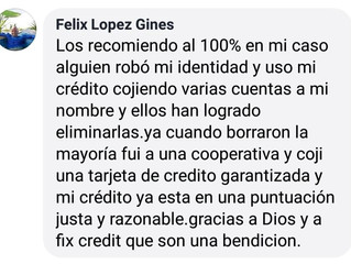 Más testimonios de que Fix Credit si funciona, hemos ayudado a muchas personas que han sufrido robo