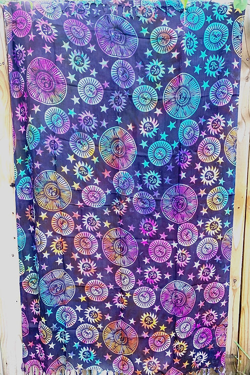 Sun and Stars Sarong Tapestry