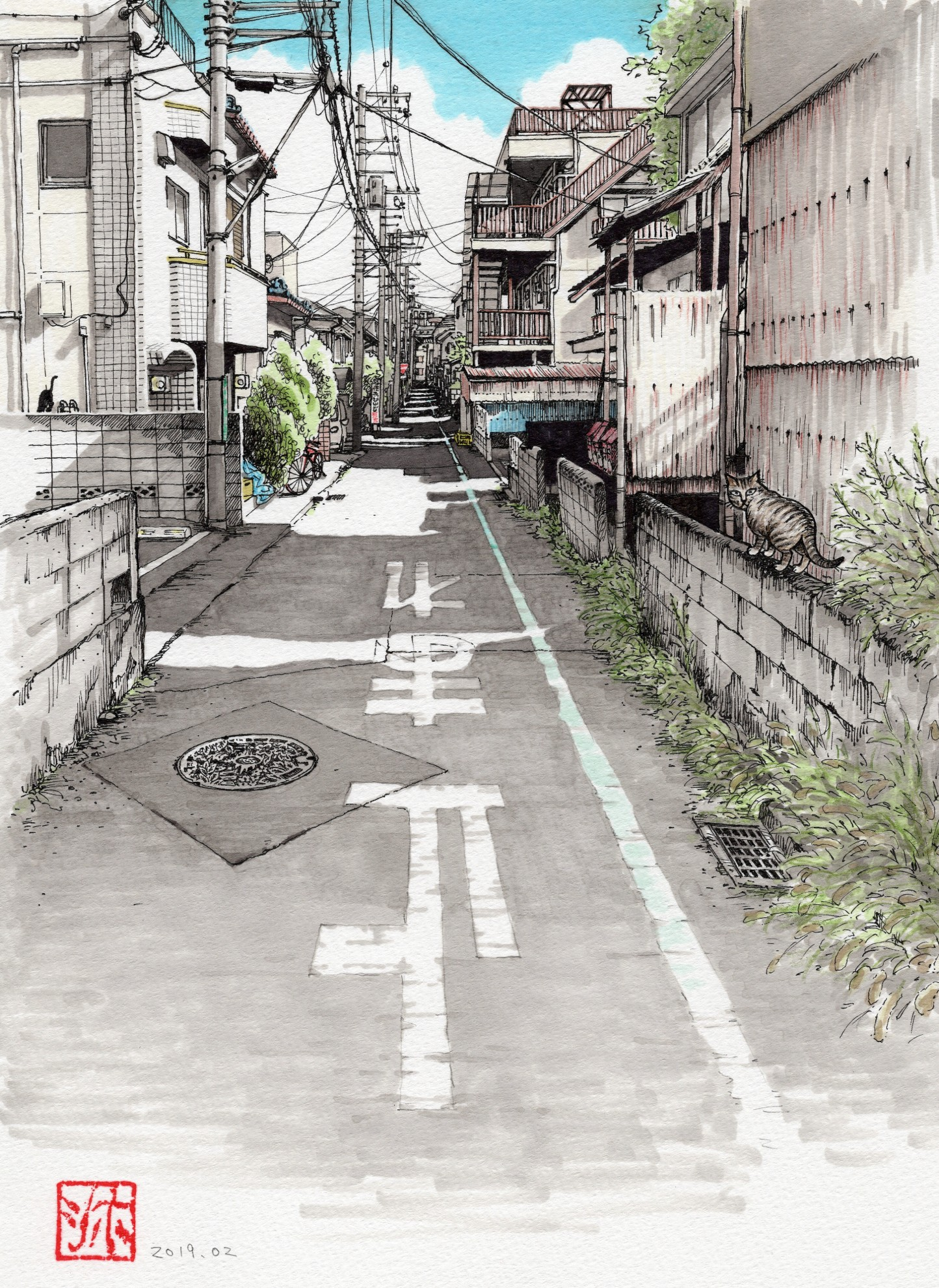 「セイイチロウの小道」のキジトラ