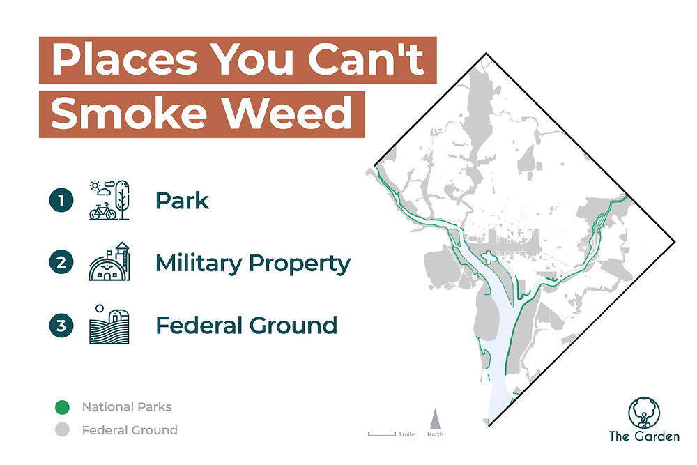 Smoking weed in DC Federal Property