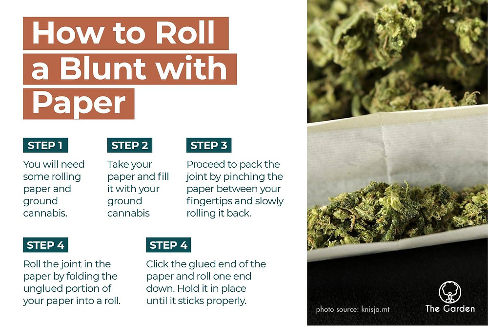 how to roll a blunt with paper