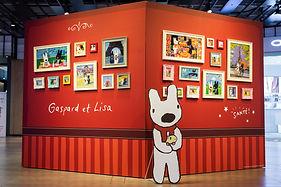 展場設有20週年友誼照片牆 回憶兩位小淘氣生活的點點滴滴.jpg