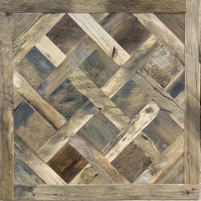 Reclaimed Oak Versailles Parquet Panel