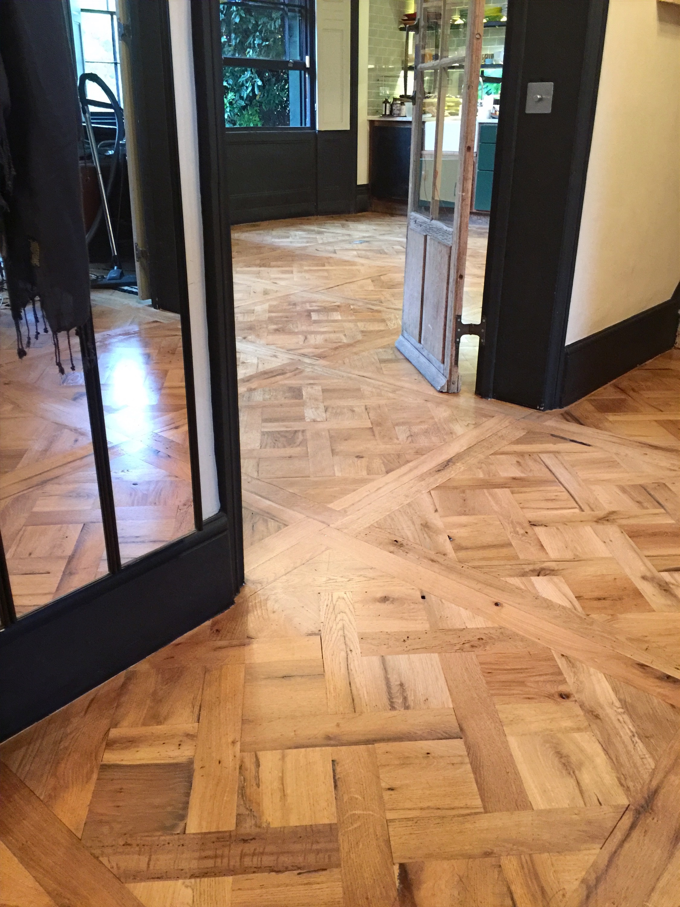 Reclaimed Oak Parquet Panels Versailles