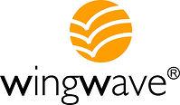 Wingwave Logo Schrift mit Ball als Foto