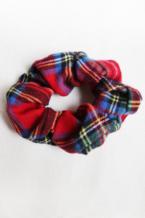Red & Blue Plaid Scrunchie