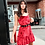 Thumbnail: Clara Red Velvet Slip Dress
