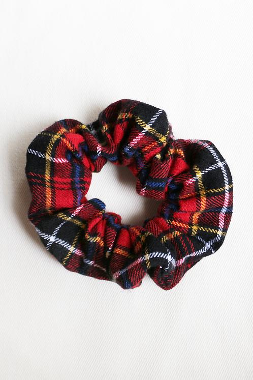 Red & Black Plaid Scrunchie