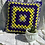 Thumbnail: Hand Crochet Cushion Cover - Purple/Yellow/Grey