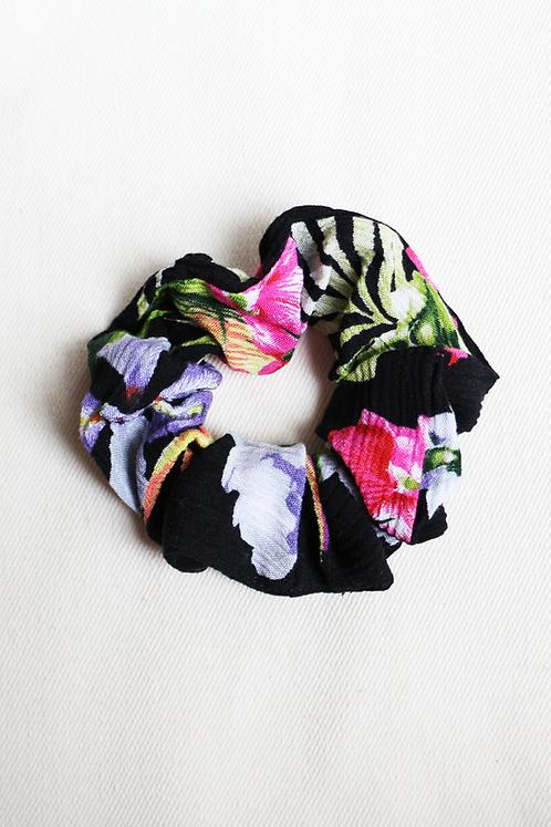 Black Tropical Scrunchie