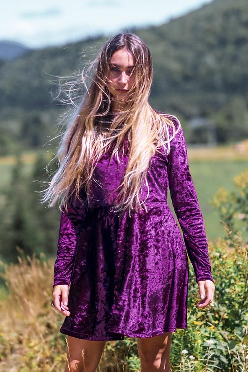 Purple Velvet Dress