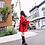 Thumbnail: Red Velvet Smock Dress