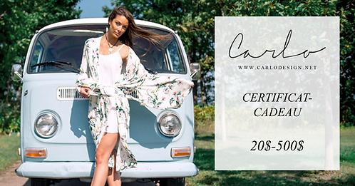 Certificat-Cadeau (20$-500$)