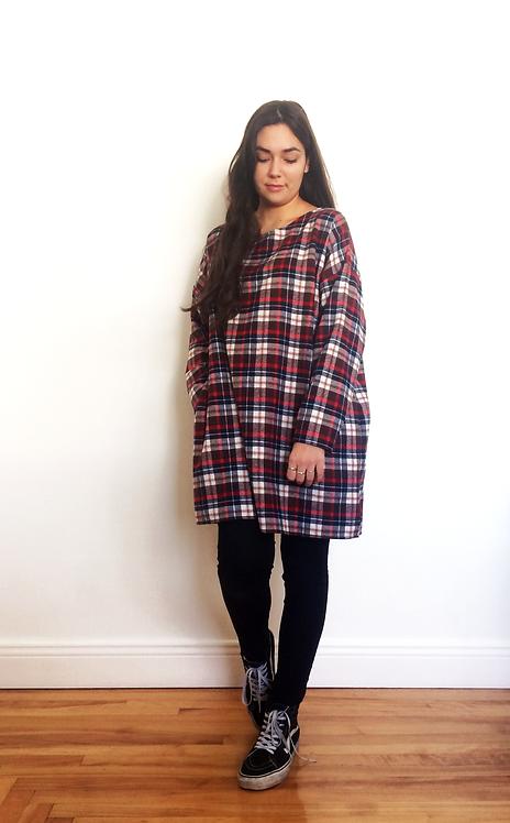Plaid Dress - Brown