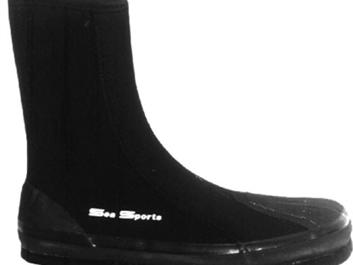 Sea Sports Neoprene Felt-Sole High Top Zipper Tabi Boots