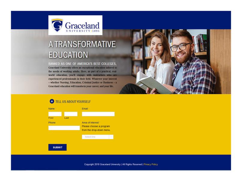 Graceland Landing Page