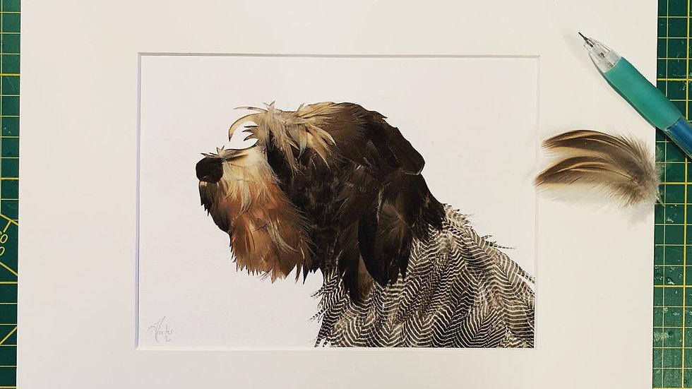 Portrait de chien buste