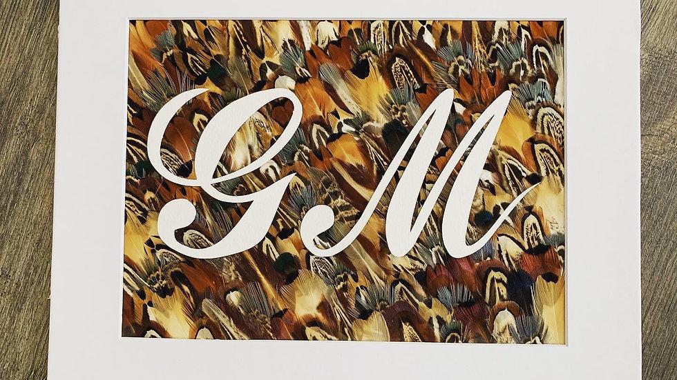«Initiales Plumées» 23x32cm