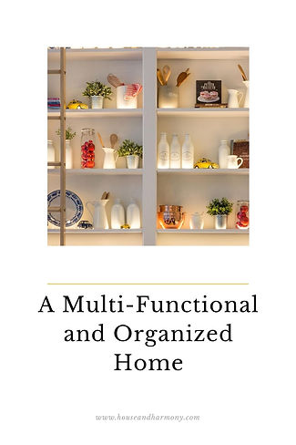 A multi-functional and organized home