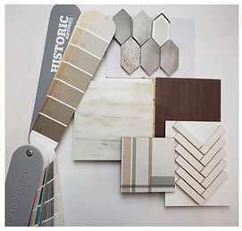 Material selection, tiles, paint color, cabinets, backspach, flooring