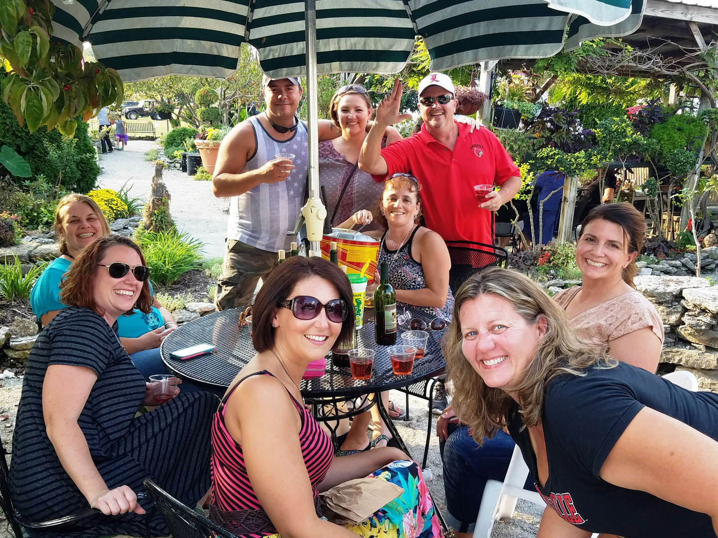 Lanthier Winery friends and fun in the g