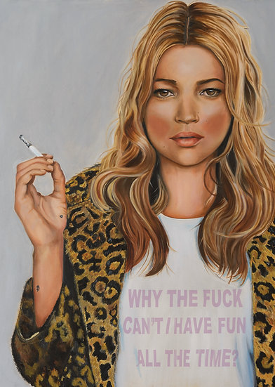 KATE MOSS - Why the fuck can't I have fun all the time?